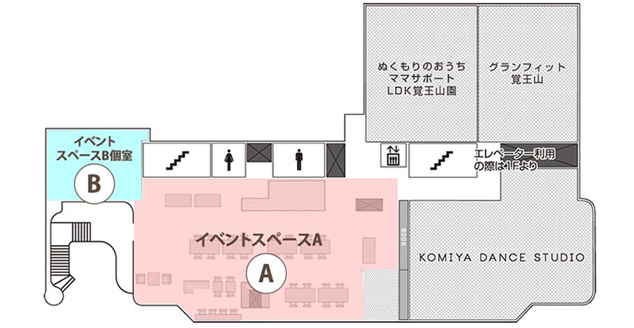 イベントスペースフロア図
